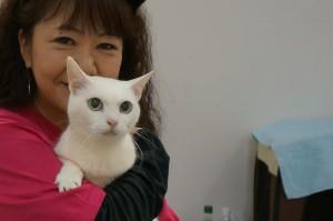 「猫侍」の女優猫あなごちゃんとのツーショット。めっちゃ嬉しかったので、また載せちゃお☆