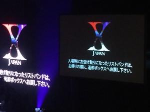 観客には、ステージと連動して光るリストバンドが配られた。