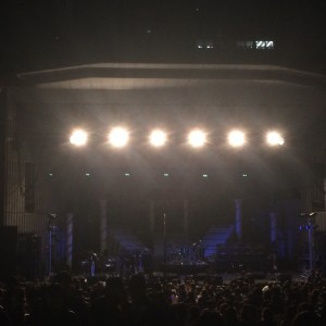 ライブ直後のステージ。ステージセットも、豪華でした。