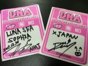イベント参加者全員が、自らのルーツとなったバンドを記入。これはもちろん、NINJAMAN JAPANのSarinoとDeweyが書いたものです。