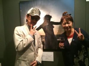 菅野さんと。20年くらい前から、いろいろご一緒させていただています。