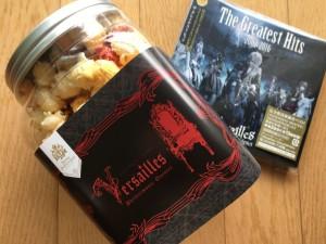 ニューアルバムと、Versaillesテイスト(?)のポップコーンをお土産にいただきました。