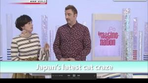 ホラン千秋さんのMCも、すべて英語。タイトルは、「Japan's Latest cat craze』でした。