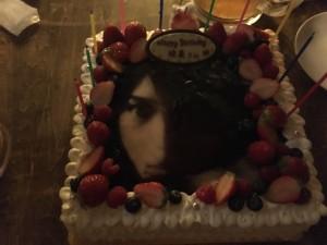 バースデーケーキは、松下優也くんの写真入でした♡