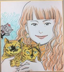 イラストレーターの二平さんに、タヌサリ+びじゅたんと一緒の似顔絵を描いてもらいました☆