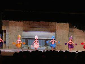 ポリネシアンダンスもあって、バラエティーに富んだ充実のショータイム。計3回も、見ちゃったよ(笑)。
